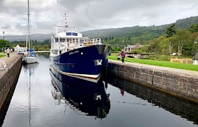 Emma Jane moored up on the Caledonian Canal by James Fairbairns
