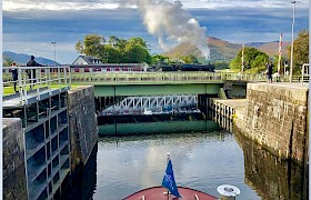 Hogworts Express from a Caledonian Canal Cruise