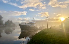 Misty morning Caledonian Canal