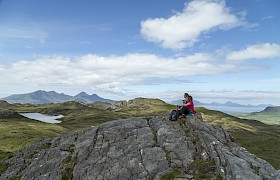 Shore Trip to the top of the Sgurr of Eigg on our Skye Cruise