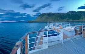 View from the top deck on our Skye cruises