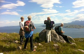 Guests on Eigg on our Skye and Small Isles cruise