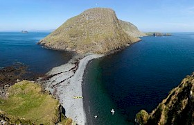 Stunning shot of the Shiant Islands