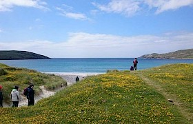 Guests ashore on Vatersay