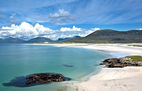 Luskentyre Beach on our outer Hebrides Cruise