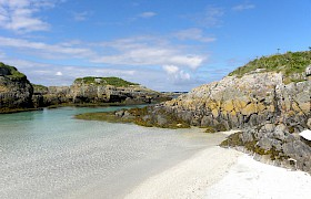 the cairns of coll a great spot for basking sharks on a scottish cruise of the hebrides