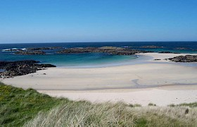 A beach on Coll on our inner Hebrides cruise