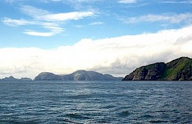Approaching the Shiant Islands on a Hebrides Cruise