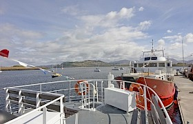 Top deck seating perfect for a cruise of the western isles