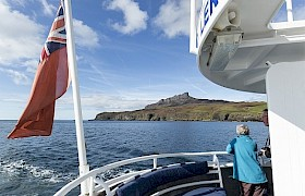 Cruising towards the Isle of Eigg in the Small Isles, Inner Hebrides
