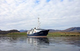 Anchored in the Small Isles Inner Hebrides cruise