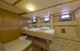 A twin ensuite cabin