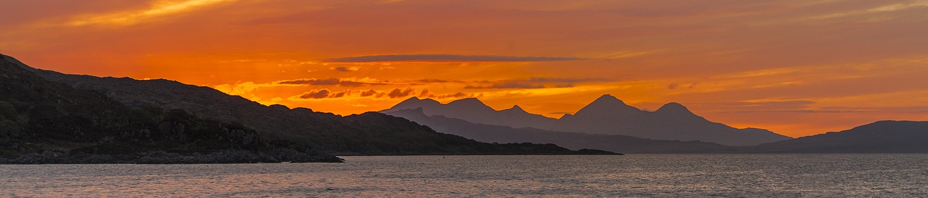 Sunset over the Isle of Rum