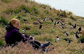 Puffins on Lunga with guest, Chris Gomersall