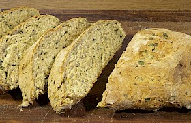 Chef Stevie - Spinach and Parmesan Loaf. Photo Nigel Spencer