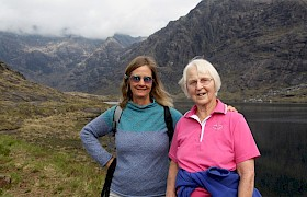 Tania and Hilary on Skye