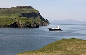 Emma Jane at anchor in the Small Isles