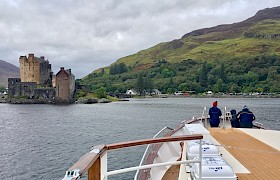 Eilean Donan Castle from our luxury cruise ship Emma Jane
