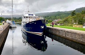 Emma Jane at Fort Augustus on a Caledonian Canal Cruise